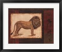 Framed Savanna Lion