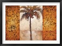 Sunset Palms I Framed Print