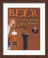 Framed Beer It's What's for Dinner