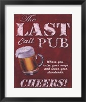Last Call Pub Framed Print