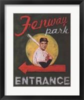 Framed Fenway Park Entrance