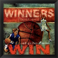 Framed Winners - Basketball