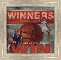 Framed Winners - Basketball