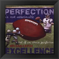 Perfection - Football Framed Print
