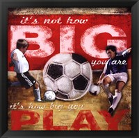 Framed Big Play - Soccer