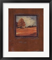 Framed Copper Landscape I