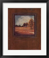 Copper Landscape II Framed Print