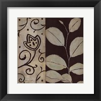 Framed Brown Leaf I