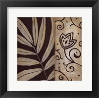 Framed Brown Leaf II