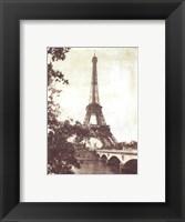 Framed Eiffel Tower 8 x10