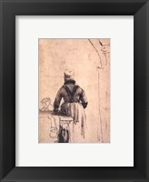 Framed Woman in North Holland Costume Seen from Behind, c. 1638