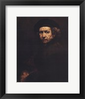 Framed Rembrandt, Self-Portrait, c.1659