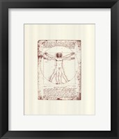 Framed Vitruvian Man (serigraph and embossed)