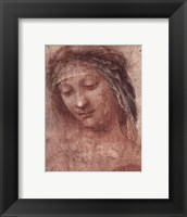 Framed Woman's Head, Study