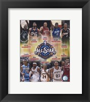 Framed 2007-08 NBA All-Star Game Matchup Composite