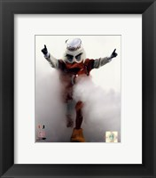 Framed Sebastian the University of Miami Hurricanes mascot 2006