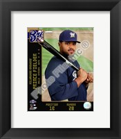 Framed Prince Fielder 2008 Studio