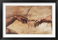 The Creation of Adam (detail) Framed Print