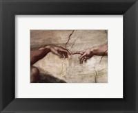 Framed Creation of Adam (hands detail)