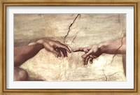 Framed Creation of Adam (hands detail)
