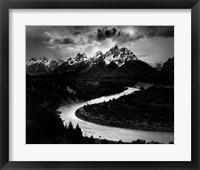 Framed Tetons and the Snake River (embossed)