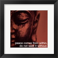 Framed Buddha - iPhilosophy - Peace