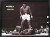 Framed Muhammad Ali - 1965 1st Round Knockout Against Sonny Liston (landscape)