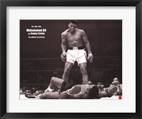 Framed Muhammad Ali - 1965 1st Round Knockout VS Sonny Liston