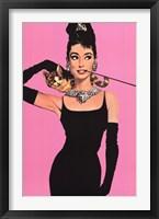 Framed Audrey Hepburn - Pink