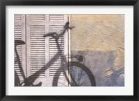 Framed Bicycle Arriving