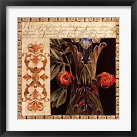 Framed Antique French Manuscript I