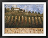 Framed Rustic Tuscany