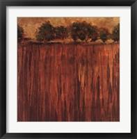 Horizon Line with Trees II Framed Print