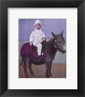 Framed Paulo on a Donkey
