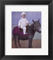 Framed Paulo on a Donkey