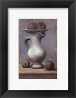 Framed Still Life with Pitcher and Apple