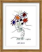 Framed Main Aux Fleurs