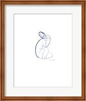 Framed Nude Seated on Left Leg