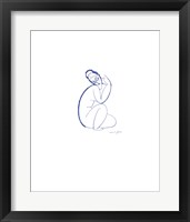 Framed Nude Seated on Left Leg