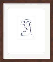 Framed Nude Seated on Both Legs