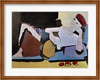 Framed Woman with Tambourine