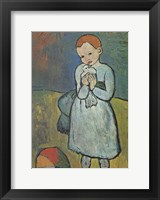 Framed Child with Dove