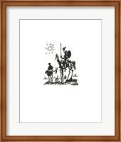 Framed Don Quixote - Embossed