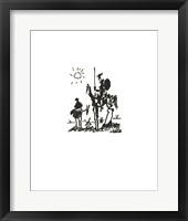 Framed Don Quixote - Embossed