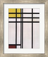 Framed Opposition of Lines: Red and Yellow