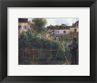 Framed Monet Painting in his Garden at Argenteuil, c.1873