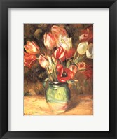 Framed Tulips in a Vase