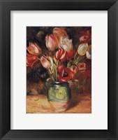 Framed Tulips in a Vase