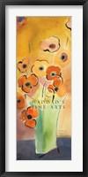 Framed Morning Poppies