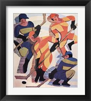 Framed Hockey Players